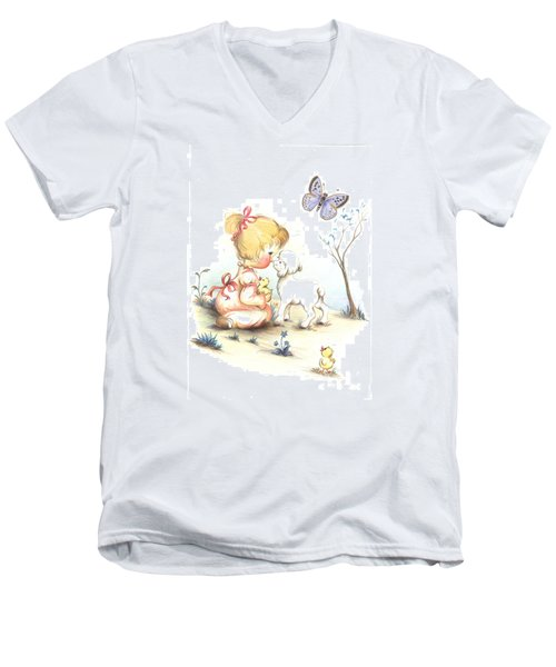 Happiness Men's V-Neck T-Shirt by Sorin Apostolescu