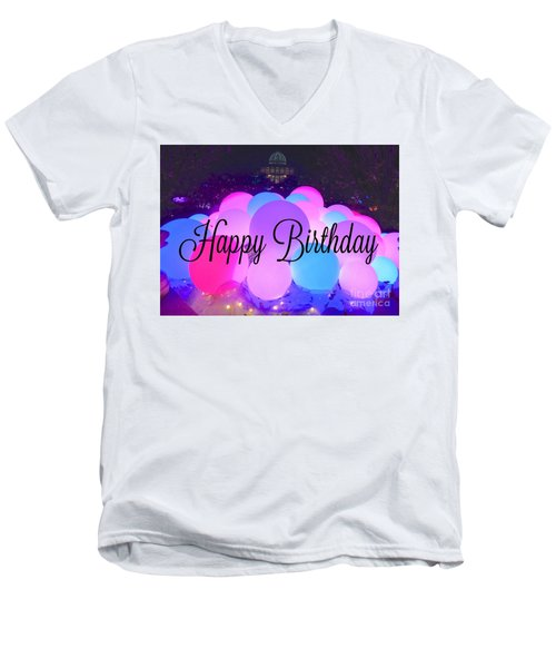 Happy Birthday Bubbles Men's V-Neck T-Shirt
