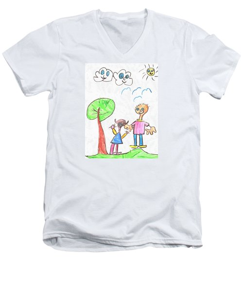 Happy Faces Men's V-Neck T-Shirt