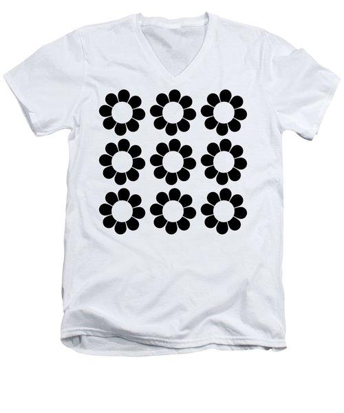 Happy Flower Group  Men's V-Neck T-Shirt