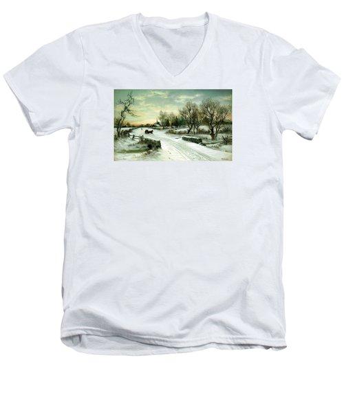 Happy Holidays Men's V-Neck T-Shirt by Travel Pics