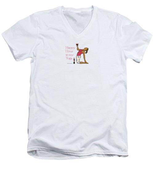 Happy Hour Pose 2 Men's V-Neck T-Shirt