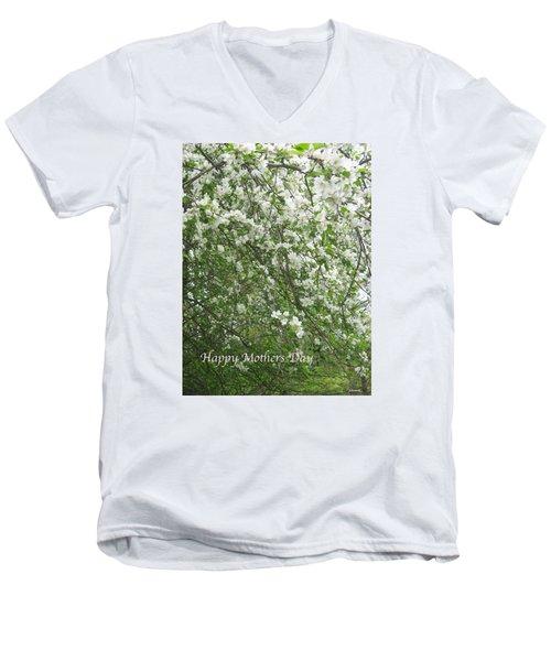 Happy Mothers Day Men's V-Neck T-Shirt by Deborah Dendler