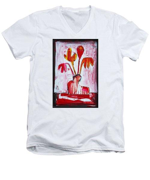 Happy Poppy Men's V-Neck T-Shirt