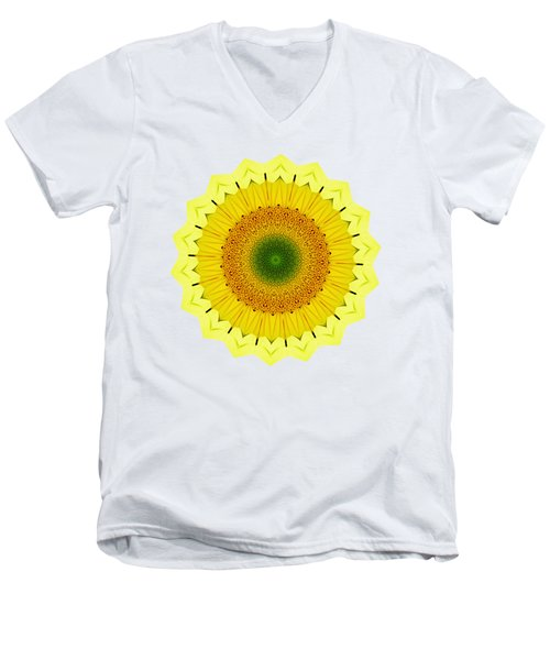 Happy Sunflower Mandala By Kaye Menner Men's V-Neck T-Shirt
