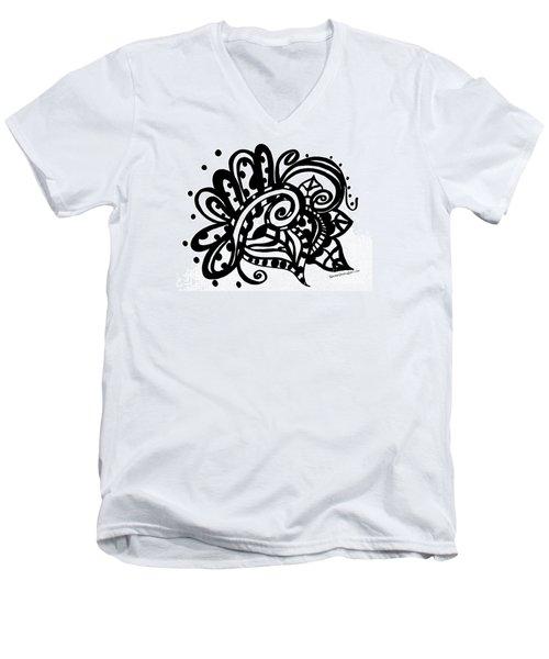 Happy Swirl Doodle Men's V-Neck T-Shirt