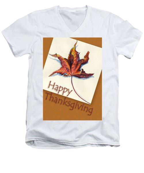 Happy Thansgiving Men's V-Neck T-Shirt