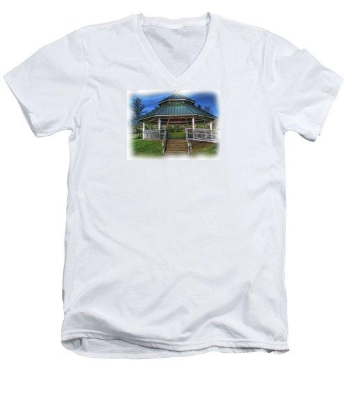 Men's V-Neck T-Shirt featuring the photograph Happy Valley Gazebo Art  by Thom Zehrfeld