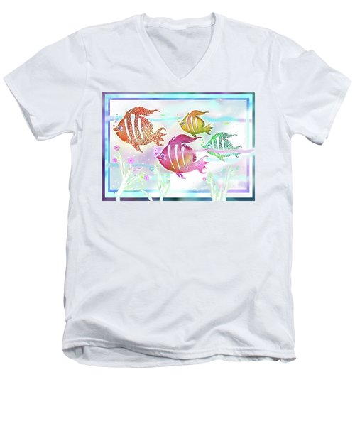 Happiness Is A Clean Ocean  Men's V-Neck T-Shirt