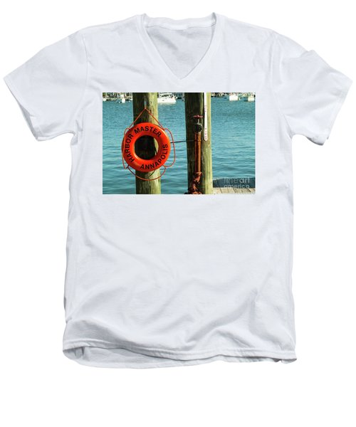 Harbor Life Preserver Men's V-Neck T-Shirt