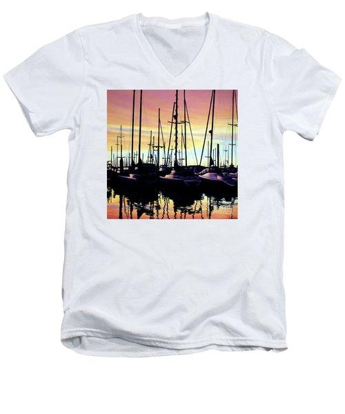 Harbor Sunset Men's V-Neck T-Shirt