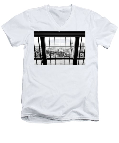 Men's V-Neck T-Shirt featuring the photograph Harbor View by Greg Fortier