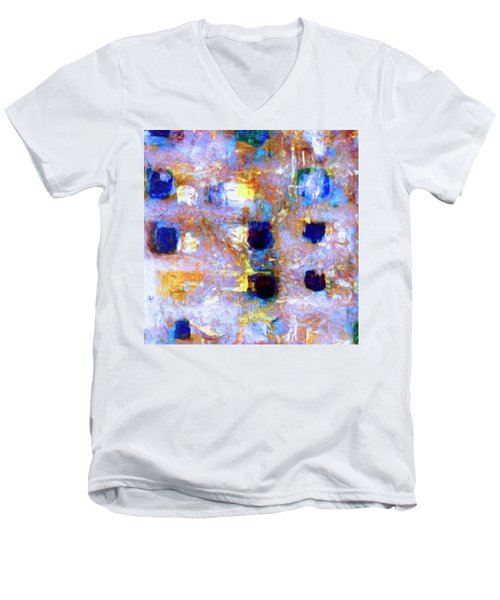 Men's V-Neck T-Shirt featuring the painting Hard Eight by Dominic Piperata