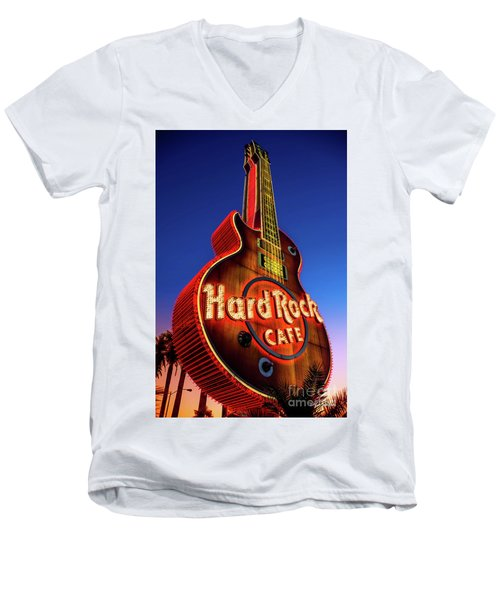 Hard Rock Hotel Guitar At Dawn Men's V-Neck T-Shirt