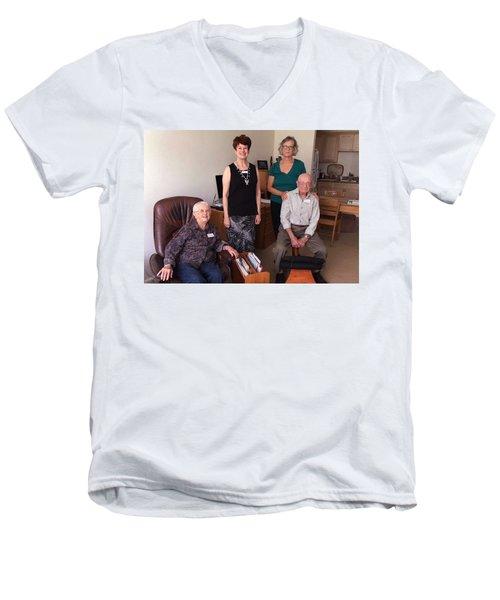 Harding School Revisited Men's V-Neck T-Shirt