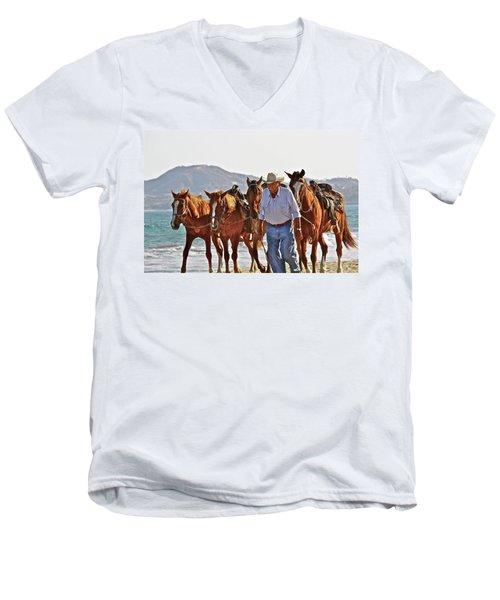 Hardworking Man Men's V-Neck T-Shirt