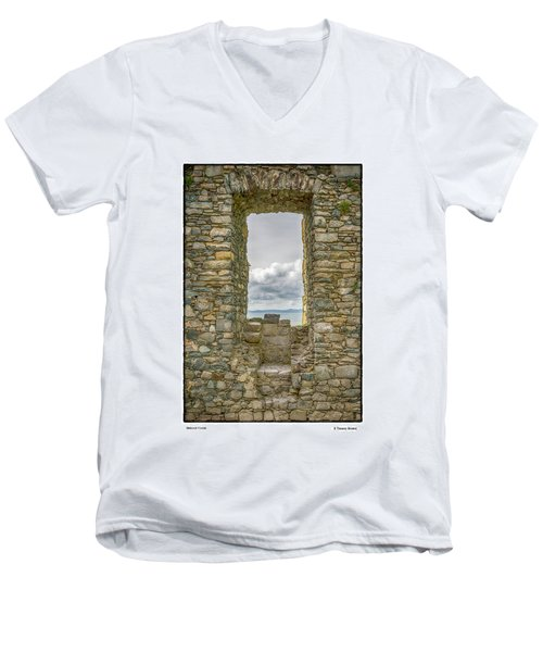 Harlech Cloud Men's V-Neck T-Shirt by R Thomas Berner
