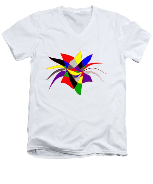 Harlequin Flower Men's V-Neck T-Shirt