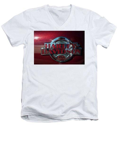 Harley Davidson 12 Men's V-Neck T-Shirt