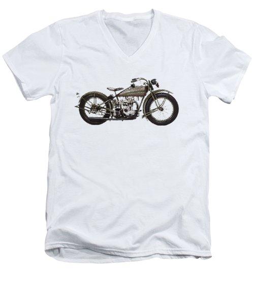 Harley-davidson Peashooter  - Parallel Hatching Men's V-Neck T-Shirt