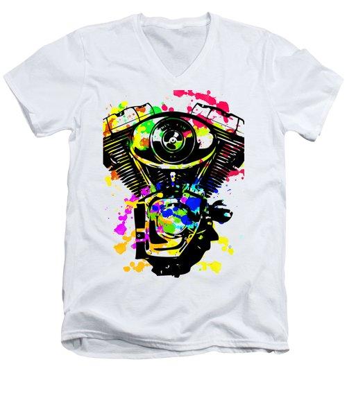 Harley Davidson Pop Art 5 Men's V-Neck T-Shirt