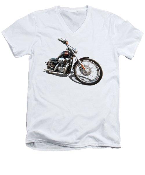 Harley Sportster Xl1200 Custom Men's V-Neck T-Shirt