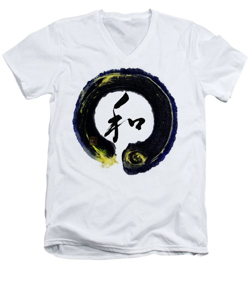 Harmony - Peace With Enso Men's V-Neck T-Shirt by Peter v Quenter