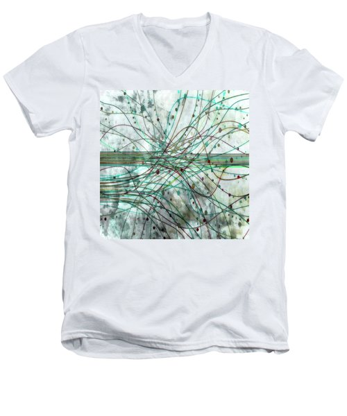 Men's V-Neck T-Shirt featuring the digital art Harnessing Energy 3 by Angelina Vick