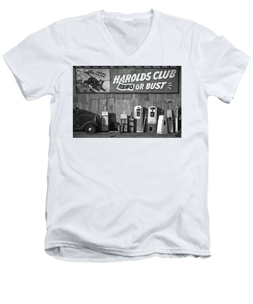Harold's Club Men's V-Neck T-Shirt