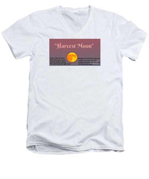 Harvest Moon Song Men's V-Neck T-Shirt by John Malone