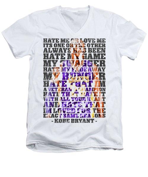Hate Me Men's V-Neck T-Shirt by Iman Cruz