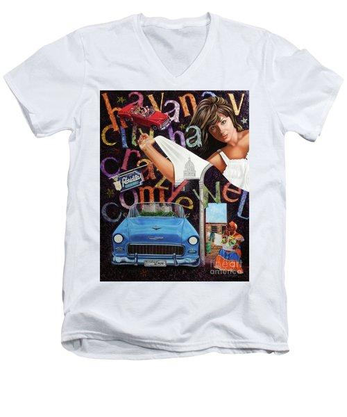 Havana City Men's V-Neck T-Shirt