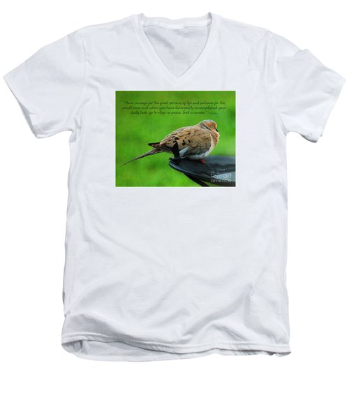Have Courage  Men's V-Neck T-Shirt by Diane E Berry
