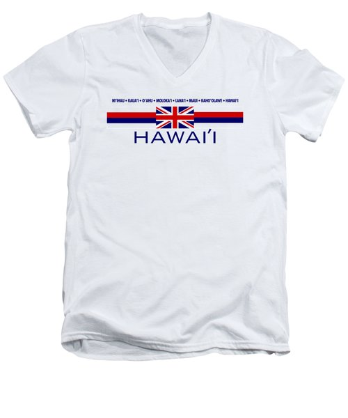 Hawai'i Men's V-Neck T-Shirt by Jim Pavelle
