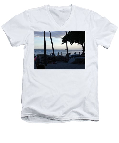 Hawaiian Afternoon Men's V-Neck T-Shirt