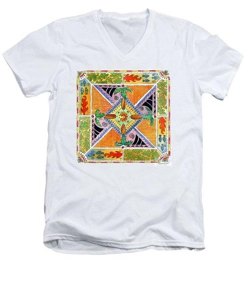 Hawaiian Mandala I - Palm Trees Men's V-Neck T-Shirt