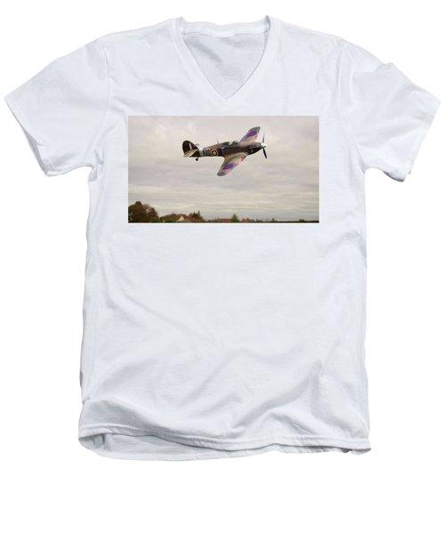 Hawker Hurricane -2 Men's V-Neck T-Shirt by Paul Gulliver
