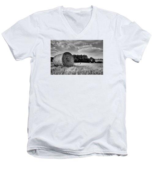 Hay Race Track Men's V-Neck T-Shirt by Jeremy Lavender Photography