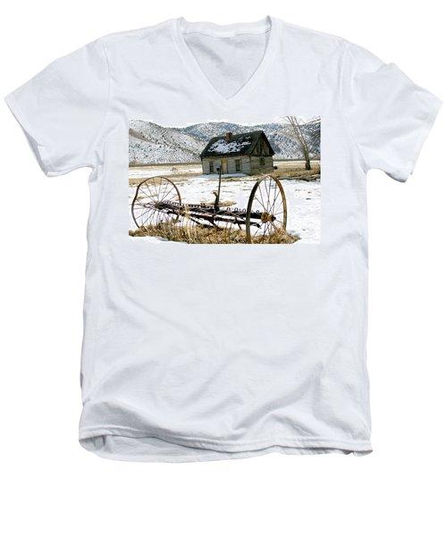 Hay Rake At Butch Cassidy Men's V-Neck T-Shirt