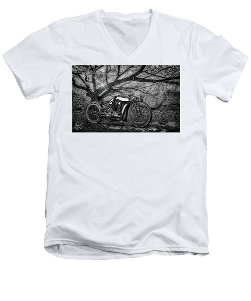 Men's V-Neck T-Shirt featuring the photograph Hd Cafe Racer  by Louis Ferreira