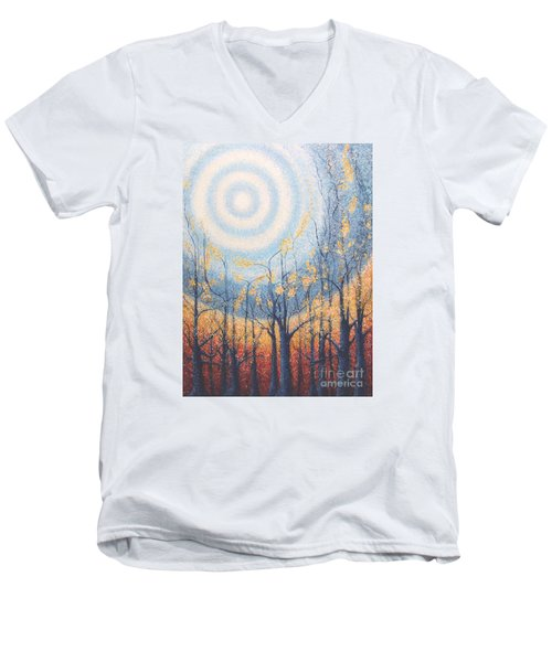 He Lights The Way In The Darkness Men's V-Neck T-Shirt by Holly Carmichael
