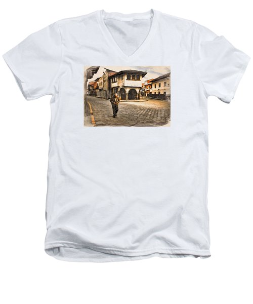 Heading Home Alone Men's V-Neck T-Shirt
