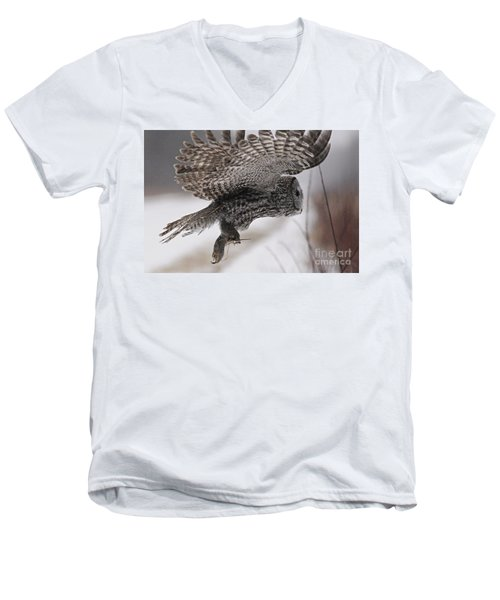 Men's V-Neck T-Shirt featuring the photograph Heading Home With The Booty by Larry Ricker