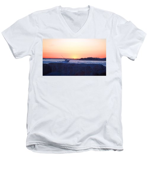 Men's V-Neck T-Shirt featuring the photograph Heading Out by  Newwwman