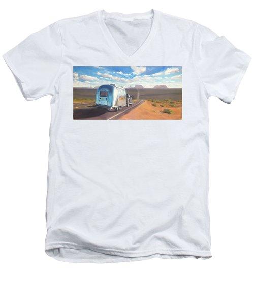 Heading South Towards Monument Valley Men's V-Neck T-Shirt