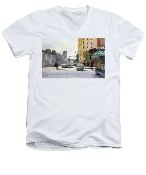 Heading West On College Avenue - Appleton Men's V-Neck T-Shirt