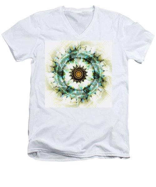 Men's V-Neck T-Shirt featuring the digital art Healing Energy by Anastasiya Malakhova