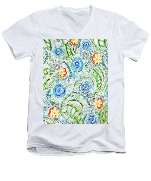 Healing Garden Men's V-Neck T-Shirt