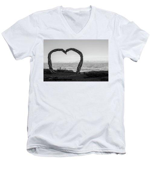 Heart Arch Men's V-Neck T-Shirt