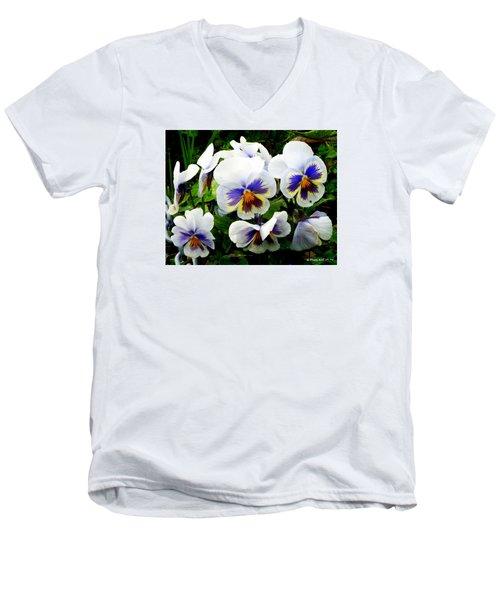 Heart Ease In White Men's V-Neck T-Shirt